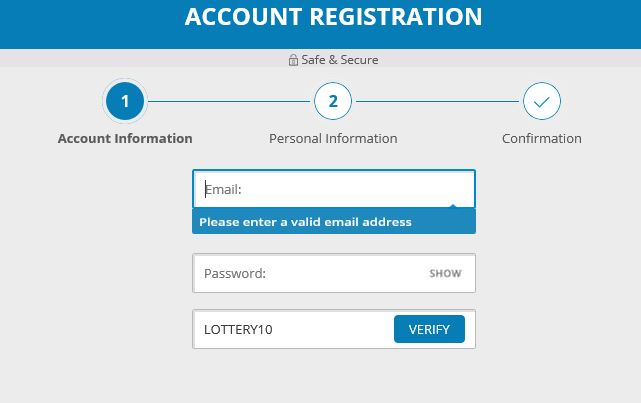 Michigan Lottery registration